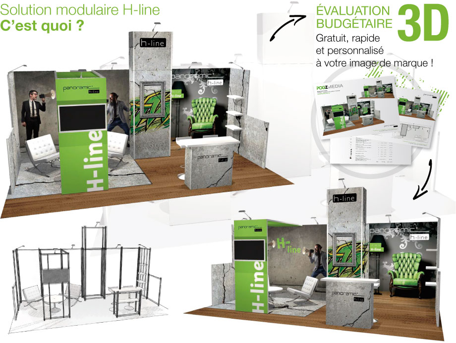Kiosque à modules H-Line